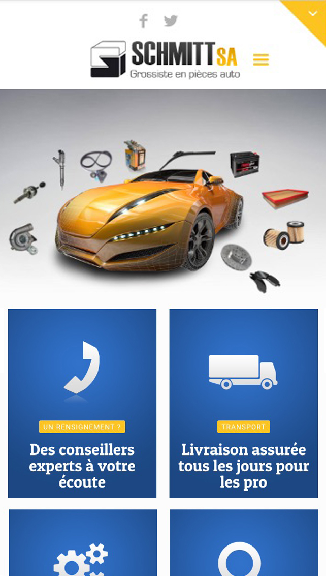 site internet pièce automobile version mobile responsive agence web